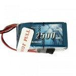 2500mAh 7.4V Hump RX 2S2P Lipo Battery Pack with JR-3P Plug Fits Tekno