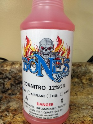 Bones Brew RTR 20% Nitro Car Fuel with 12% Oil (12 Quarts)