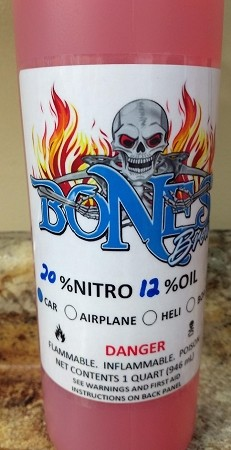 Bones Brew Ready-To-Run 20% Nitro with 12% Oil Car Fuel (1 Quart)