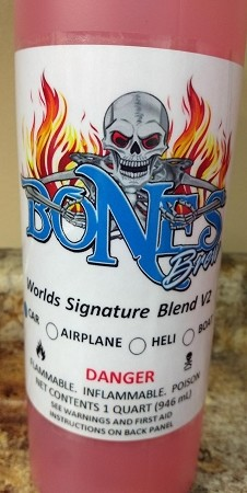 Bones Brew Worlds V2 Blend 25% Nitro with 8% Oil Car Fuel (1 Quart)