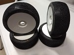 1/8th Buggy Carbides Extreme Super Soft (G) Gold dot 1 set of 4 tires Pre-glued on White rims